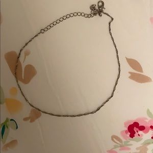 H&M braided silver choker necklace